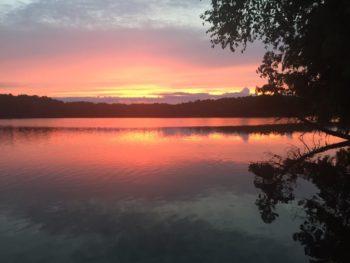 cabin sunset july2018