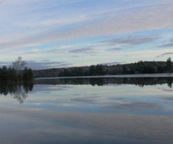 first skim of ice VV lake